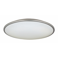 Large Modern Ceiling Light with White Acrylic Shade - 21-Inches Wide