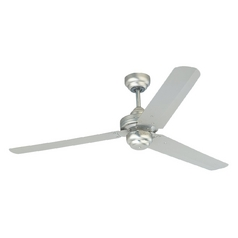 Modern Ceiling Fan Without Light in Brushed Pewter Finish