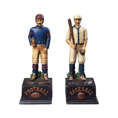 Football / Baseball Bookend Set