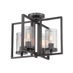 Designers Fountain Elements Charcoal Semi-Flushmount Light