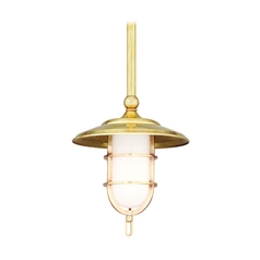 Hudson Valley Lighting Mini-Pendant Light with White Glass 2921-AGB