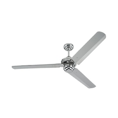 Modern Ceiling Fan Without Light in Polished Nickel Finish