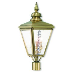 Livex Lighting Cambridge Antique Brass Post Light