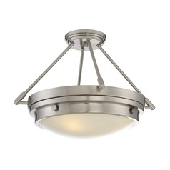 Savoy House Lighting Lucerne Satin Nickel Semi-Flushmount Light