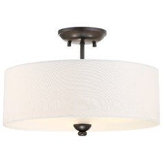 Minka Shadowglen Lathan Bronze Semi-Flushmount Light