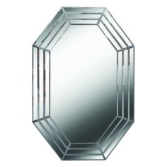 Art Deco Decorative Mirror Clear Sebastiano by Kenroy Home Lighting