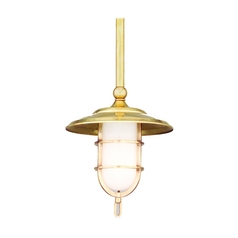 Hudson Valley Lighting Mini-Pendant Light with White Glass 2921-PN