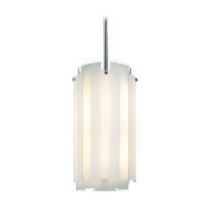 Pendant Light with White Glass in Polished Chrome Finish