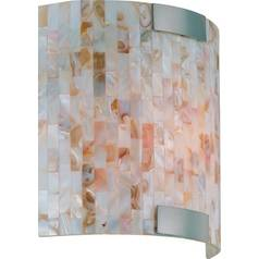 Lite Source Lighting Polished Steel Sconce