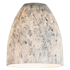 Design Classics Lighting Art Glass Bell Shade - Lipless with 1-5/8-Inch Fitter Opening GL1025MB