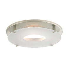 Satin Nickel Decorative Recessed Lighting Trim with Frosted Glass