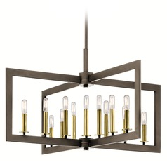 Industrial Linear Chandelier Bronze Cullen by Kichler Lighting