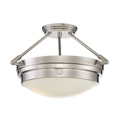 Savoy House Lighting Lucerne Polished Nickel Semi-Flushmount Light