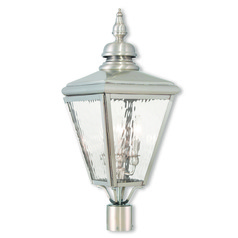 Livex Lighting Cambridge Brushed Nickel Post Light
