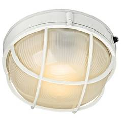 Kichler Outdoor Wall Light with White Glass in White Finish