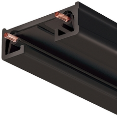 4 Ft Track Section in Black Finish Juno Trac Lites Collection