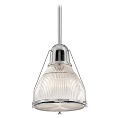 Prismatic Glass Pendant Light Polished Nickel Hudson Valley Lighting