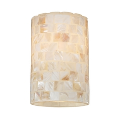 Cylinder Mosaic Glass Shade - Lipless with 1-5/8-Inch Fitter Opening
