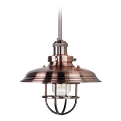 Maxim Lighting Mini Hi-Bay Antique Copper Pendant Light with Bowl / Dome Shade