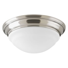 Progress Lighting LED Flush Mount Brushed Nickel LED Flushmount Light