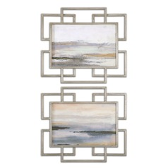 Uttermost Gray Mist Framed Art Set of 2