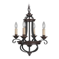 Craftmade Stafford Aged Bronze/textured Black Mini-Chandelier