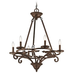 Kichler Caldella 6-Light Chandelier in Aged Bronze