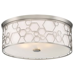 Minka Lavery Brushed Nickel Flushmount Light