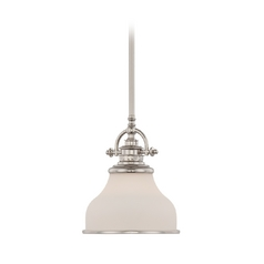 Farmhouse Mini-Pendant Light Silver Grant by Quoizel Lighting