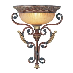 Livex Lighting Villa Verona Bronze with Aged Gold Leaf Accents Sconce