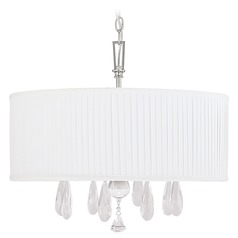 Capital Lighting Alisa Polished Nickel Pendant Light with Drum Shade