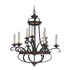 Craftmade Stafford Aged Bronze/textured Black Chandelier