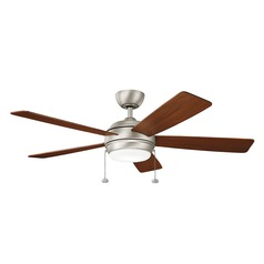 Kichler Lighting Starkk Brushed Nickel LED Ceiling Fan with Light
