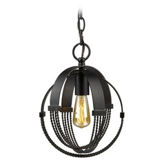 Golden Lighting Carter Aged Bronze Mini-Pendant Light