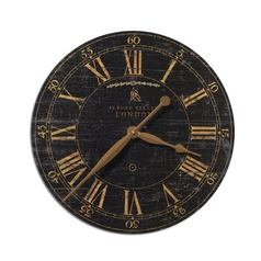 Clock in Weathered Crackle Finish