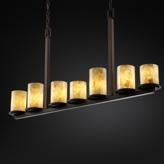 Justice Design Group Alabaster Rocks! Collection Island Light