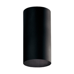 Progress Lighting Cylinder Black Close To Ceiling Light