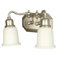 Craftmade Heritage Brushed Satin Nickel Bathroom Light