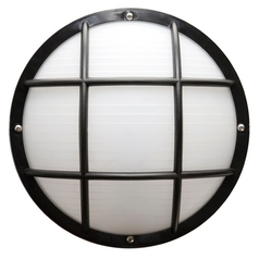 Wave Lighting Marlex Nautical Black Outdoor Wall Light