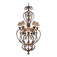 Chandelier in Golden Bronze Finish