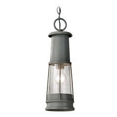 Feiss Lighting Outdoor Hanging Light with Clear Glass in Storm Cloud Finish OL8111STC