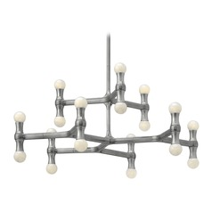 Frederick Ramond Karma Polished Aluminum Chandelier