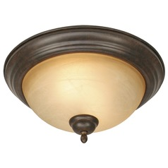 Golden Lighting Riverton Peppercorn Flushmount Light