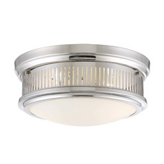 Savoy House Lighting Sanford Polished Nickel Flushmount Light