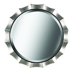 Art Deco Decorative Mirror Silver Chorale by Kenroy Home Lighting