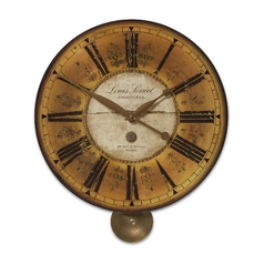 Uttermost Lighting Clock in Brass Finish 06034