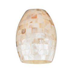 Mosaic Oblong Glass Shade - Lipless with 1-5/8-Inch Fitter Opening