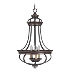 Craftmade Stafford Aged Bronze/textured Black Pendant Light
