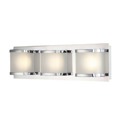 Alico Lighting Bandeau Chrome LED Vertical Bathroom Light