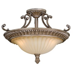 Avenant French Bronze Semi-Flushmount Light by Vaxcel Lighting